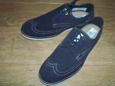 NEW PENGUIN Lesli Leather Suede Brogue Shoes  Choice of Size - Blue