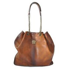 Pratesi borsa donna a spalla in pelle con manici woman leather shoulder bag