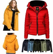 NEW WOMENS LADIES QUILTED PADDED PUFFER JACKET BUBBLE WARM FUR THICK COAT