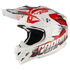 SCORPION vx-15 EVO AIR Defender MOTOCICLETA CASCO CROSS - Blanco Rojo