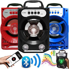 Outdoor Portable Wireless Bluetooth Speaker StereoBass w/ USB/TF/FM Radio LOT UK