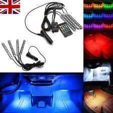 4x LED Car SUV Interior RGB Atmosphere Decorative Light Neon Lamp Strip 12V UK