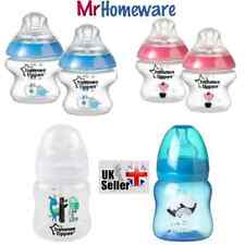 2 Bottles Pink&Blue&Clear Tommee Tippee Closer to Nature 150ml Feeding Decorated