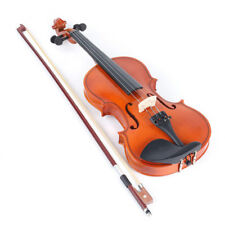 1/2 Size Natural Acoustic Violin Fiddle Instrument with Bow Rosin Carry Case NEW