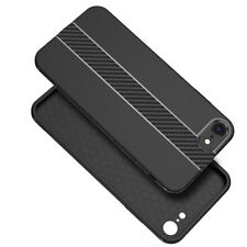 Ultra Thin Middle Carbon Fiber Stripe Matte Phone Case Cover For iPhone X 8 7 6