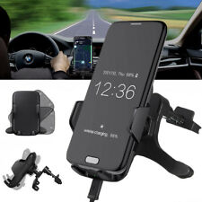 Qi Wireless Car Auto Charger Mount Pad Transmitter Dock Air Vent Phone Holder