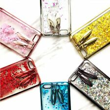 Rabbit Ear Liquid Quicksand Glitter Kickstand Slim Phone Case Cover For iPhone