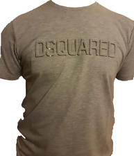 DSQUARED 3D EMBOSSED LOGO TSHIRT GREY