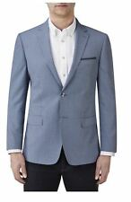 SKOPES Mens Micro Check Blazer in Light Blue (Emerson)