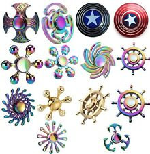 Rainbow Fidget Spinner Finger Hand Focus Spin EDC Bearing Stress Toys Collection