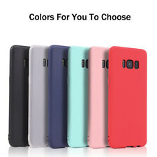 Ultra Slim Candy Color Matte Touch Soft Silicone Phone Case Cover For Samsung