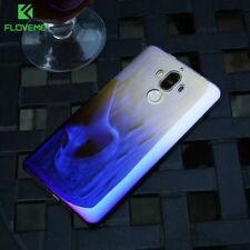 Ultra Slim Luxury Blue Ray Gradient Color PC Back Phone Case Cover For Huawei