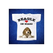 BEAGLE 2 MINI T-SHIRT DA AUTO STAMPATA IN QUALITÀ FOTOGRAFICA cane dog