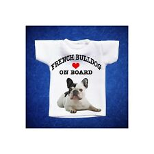 BULLDOG FRANCESE 5 MINI T-SHIRT DA AUTO STAMPATA IN QUALITÀ FOTOGRAFICA cane dog