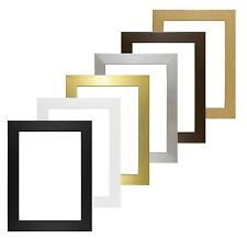 Basic Wood Frame Picture Frame Photo Poster frame Gold Silver Oak - ALL SIZES