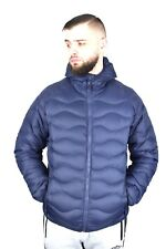 Mens Quilted Puffy Winter Jacket Goose Duck Down Feather Padded & Hooded  Coat
