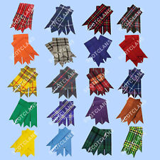 HS Highland Kilt Hose Sock Flashes Various Tartans/Scottish Kilts Socks Flashes