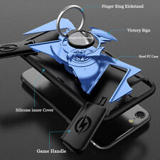 Multifunction Game Handle + Finger Ring Kickstand Phone Case Cover For iPhone