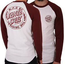 SANTA CRUZ SKATEBOARDS - VOLTAGE Skate BEISBOL CAMISA - SANGRE/blanco