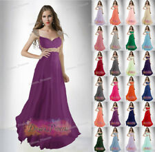 Bridesmaid Wedding Gown Prom Ball Evening Beaded Dresses Size 8 10 12 14 16 +