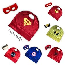 SUPERHERO - Double Sided Cape & Mask - Birthday party Gift - Fancy Dress Costume