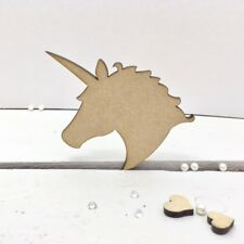 UNICORN HEADS - Wooden  * 4cm - 50cms * MDF 4mm, Craft Shapes, Tags Magical