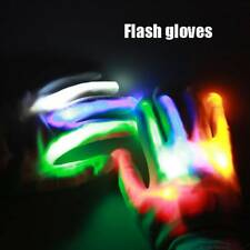 LED Rave Flashing Gloves Glowing Light Up Finger Lighting Colorful Stage Perform