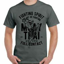 Muay Thai FULL CONTACT Hombre Artes Marciales Camiseta MMA Kick Boxing Training