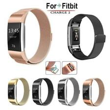 Magnetic Milanese Stainless Steel Watch Band Wrist Strap For Fitbit Charge 2 UK