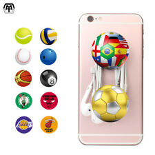 Ball Pattern Pop Out Expandable Phone Grip Holder Mount Universal Tablet Stand