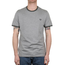Fred Perry Twin Tipped T Shirt - Steel Marl