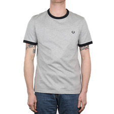 X Fred Perry Ringer Tee - Vintage Marl Grey (Fred Perry Limited)