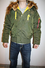 Alpha Industries Pps N2B Giacca Bomber Pilota Verde Scuro Nuovo 133147/257 Verde
