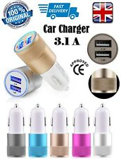 In-Car Dual 2 Port Travel USB Charger Adapter Plug For Any Mobile Phone Device