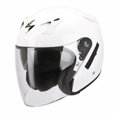 CASQUE HELMET JET OUVERT MOTO SCOOTER QUAD SCORPION EXO 220 AIR SOLID BIANCO