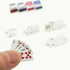 Playing Cards 1:12 Dollhouse Miniature Ornament Tarjetas de Creative Toy Poker