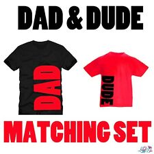 Red Dad And Dude Matching T-Shirt Set | Father Son | Dad N Lad | Fathers Day