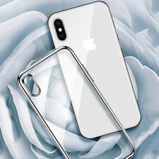 Ultra Slim Electroplating Crystal Clear Soft Phone Case Cover For iPhone X 8 7 6