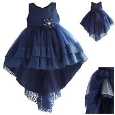 Vestito Elegante Cerimonia Abito Bambina Asimmetrico Girl Party Dress DGZF054