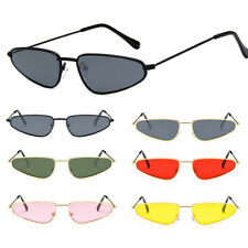 Hot Mens Women Retro Vintage Small Cat Eye Sunglasses Metal Frame Shades Eyewear