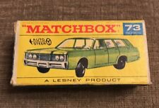 Lesney Matchbox Boxed Superfast No73 MERCURY COMMUTER DARK GREEN w/FUEL CAP