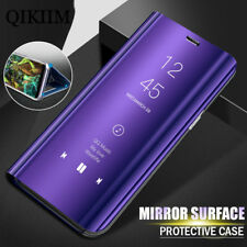 Luxury Smart View Stand Flip Mirror Screen Surface Phone Case Cover For Samsung