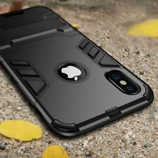 Luxury Hybrid Armor PC Rugged Shockproof Kickstand Phone Case Cover For iPhone