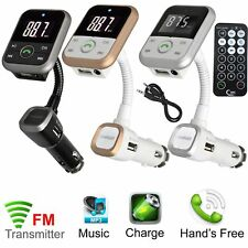 Wireless Bluetooth Car Remote Kit FM Radio Transmitter SD MP3 Player USB Charger