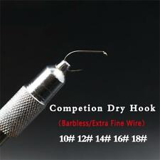 Black Nickel 15pc NEXTackle 703 BL Barbless Fly Tying Dry Fly Hooks