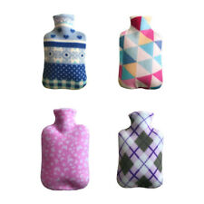 2000ml Fleece Hot Water Bottle Bag Cover Hand Warmers Winter Office Home Therapy