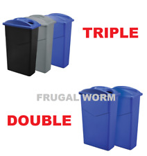 Recycling 23 Gallon Trash Container System - Dual or Triple Set