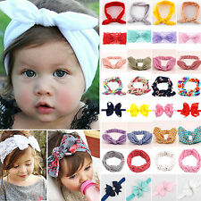 Baby Infant Toddler Girls Kids Bunny Bow Knot Turban Headband Hair Band Headwrap