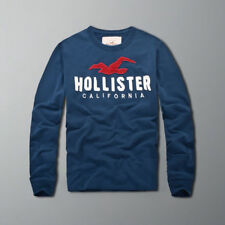 Abercrombie & Fitch Hollister Men Long Sleeve Muscle fit Navy T-shirt Size S-XXL