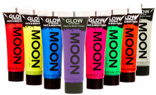 Moon Glow In The Dark Face & Body Paint - Choose From 8 Colours - Festival Party